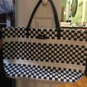 Kate Spade woven shopper tote